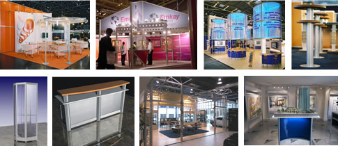 Alusett exhibit displays system applications - exhibits, showrooms, displays and more