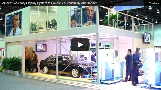 new alusett video - two story display systems